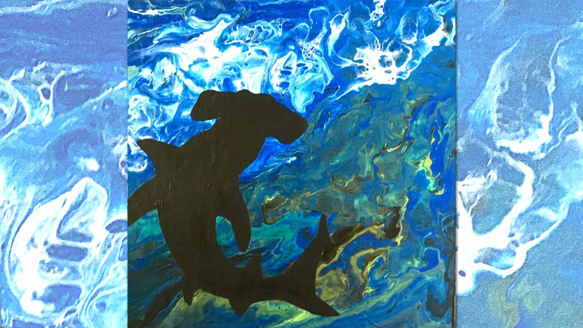 Hammerhead Shark in the water Painting