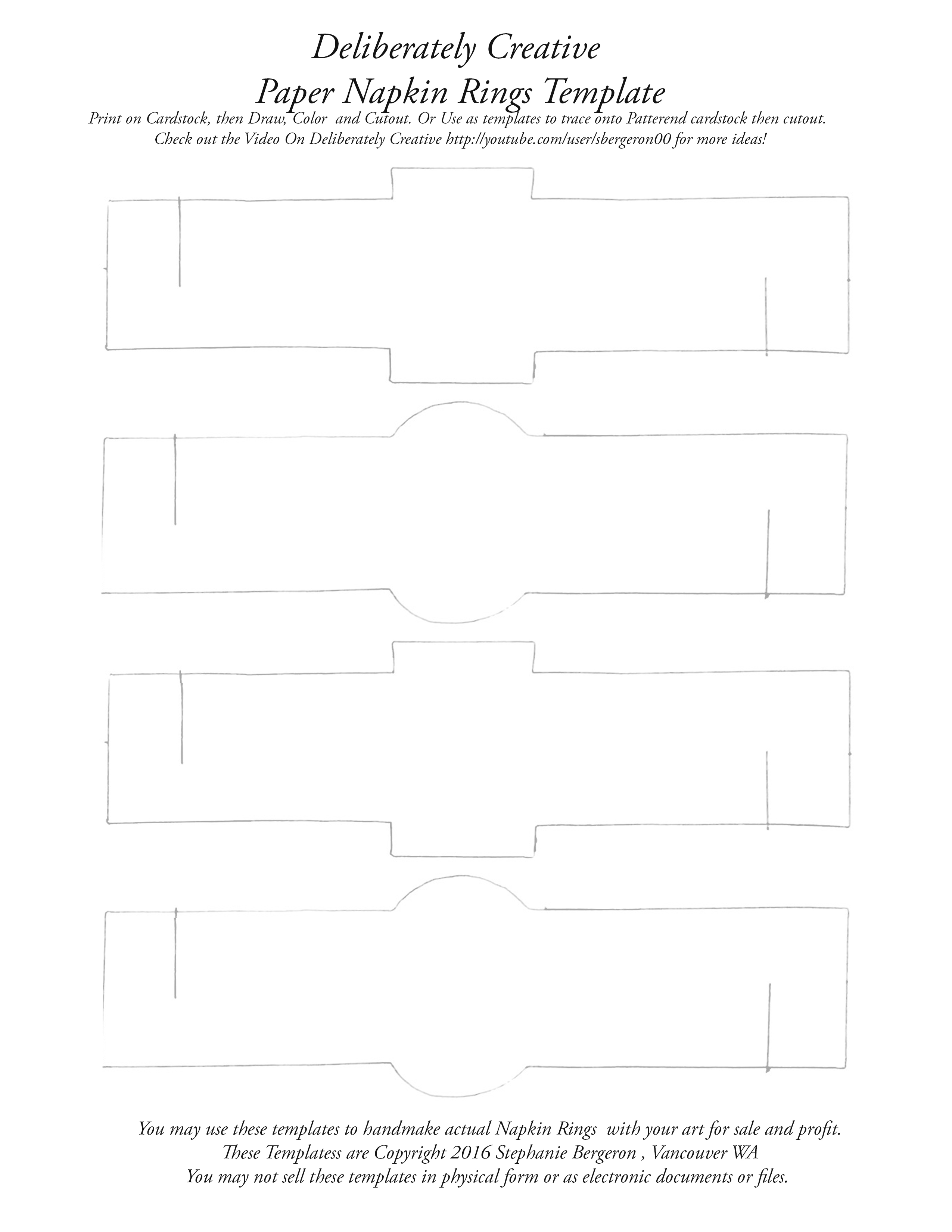 napkin rings template