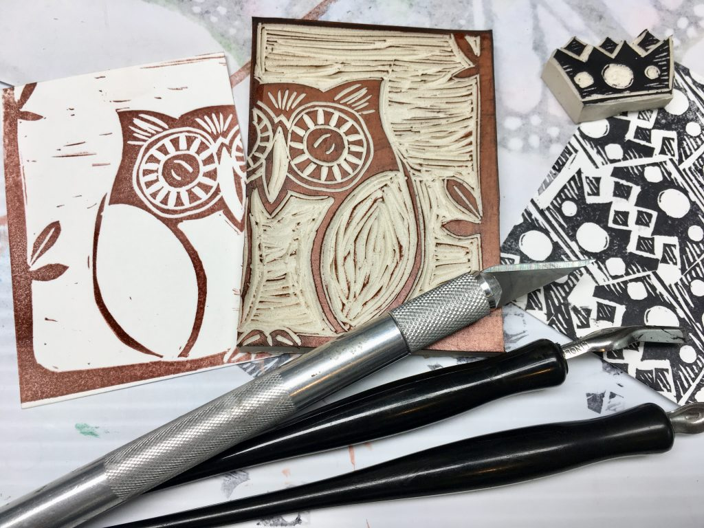 Carved Stamps and printed images